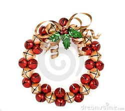 Jingle Bell Wreath Large
